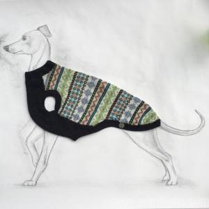 Fair Isle Turquoiselimegrey Vest Fabulous Dog Handmade